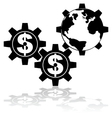 Money moves the world vector image vector image