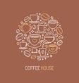 coffee house logo concept vector image vector image