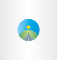 highway and landscape icon design vector image