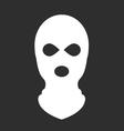 Balaclava or ski mask - symbol of terrorism vector image
