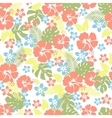 Hawaiian tropical floral seamless pattern vector image