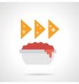 Nachos color flat icon vector image