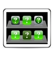 Help green app icons vector image vector image
