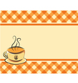 Checkered coffee background vector image