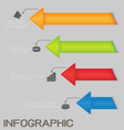 Colorful Arrows Diagram Infographic vector image