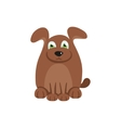 Cute dog with brown hair vector image