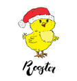 cute hand drawn chicken symbol of chinese new vector image