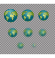 Earth Planet Earth isolated Earth set with varying vector image