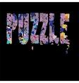 Puzzle Pieces Background vector image