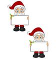 Santa Claus Holding Blank Board vector image
