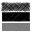Set of Black Diagonal Strokes Patterns vector image