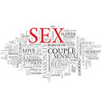 sex word cloud concept vector image