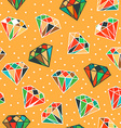Yellow seamless pattern with diamonds vector image