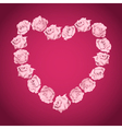 Heart from pink roses vector image vector image