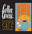 afternoon coffee cup vector image