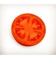 Slice of tomato vector image vector image
