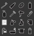 bathroom icon vector image vector image
