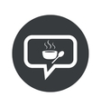 Round hot soup dialog icon vector image