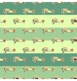 Cute airplane pattern Doodle style Old Biplanes vector image