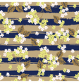 floral pattern with strips vector image vector image