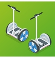 Two-wheeled Self-balancing electric scooter vector image