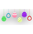 happy easter card with easter egg vector image