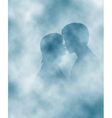 Steamy lovers vector image