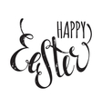 Happy Easter handwriting grunge inscription vector image