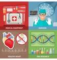Medicine Flat Compositions vector image