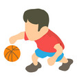 basketball player icon isometric 3d style vector image
