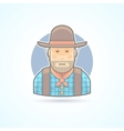 Cowboy an american animal helder icon vector image
