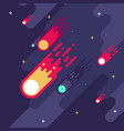 falling meteors flat style vector image