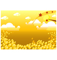 Field background vector image