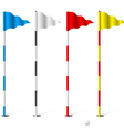 Golf flags vector image