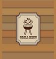grill menu retro background bbq food vintage vector image