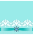 Lace border with jewelry vector image