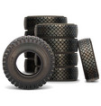 Old Truck Tire Set vector image