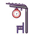 platform railway icon cartoon style vector image