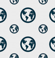Globe icon sign Seamless pattern with geometric vector image