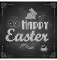 Happy Easter on chalkboard vector image