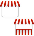 Set of striped awnings vector image