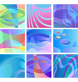 background glow abstract design set vector image vector image
