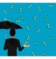 money falling vector image vector image