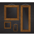 wood frames vector image