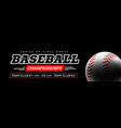 baseball ball in the backlight on black background vector image