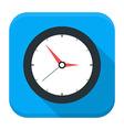 Clock app icon with long shadow vector image
