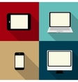 Computing Concept on Different Electronic Devices vector image