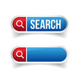 Search bar or button vector image
