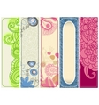 spring banners collection vector image