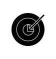 target arrow icon sign o vector image